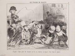 Aspect d'un Gare de Chemin de Fer - by H. Daumier - 1852