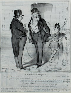 """Caricatura Robert Macaire Negociant,"" lithograph by Honore Daumier"