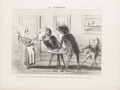 Ce qui nous prouve (...) - Original Lithograph by Honoré Daumier  - 1853