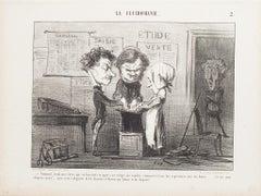 Comment, Voilà Mes Clercs - Original Lithograph by Honoré Daumier - 1853