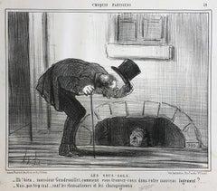 Honoré Daumier, Croquis Parisiens - Plate 19