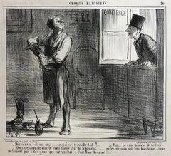 Honoré Daumier, Croquis Parisiens - Plate 30