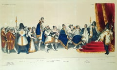 La Cour du Roi Petaud - Original Lithograph by H. Daumier - 1832