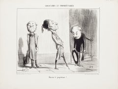 Locataires et Propriétaires - Complete Suite of Lithographs by H. Daumier - 1854