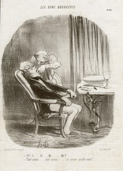Tooth Extraction, lithograph by Honore Daumier, 1847