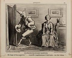 """""""Une Application Utile du Diamant Magnetiseur--Actualites"""" by Honore Daumier"""