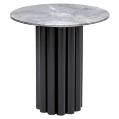 Hoob Round Coffee Table No.1 with Iron Base and Marble Top by Iz-Type