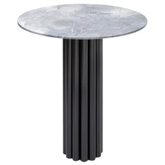 Hoob Round Table No.1 with Iron Base and Glass Top by Iz-Type