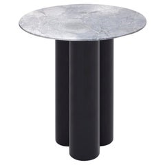 Hoob Round Table No.2 with Iron Base and Glass Top by Iz-Type