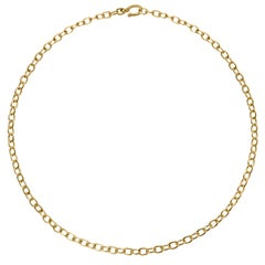 Hook and Chain 18 Karat Gold Necklace