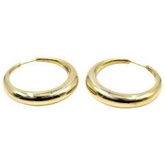 Hoop Earrings 14 Karat Yellow Gold