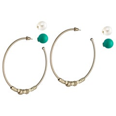 Hoop Earrings and Cubic Zircons from IOSSELLIANI
