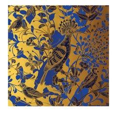 Hoopoe Birds Gold Panel #1