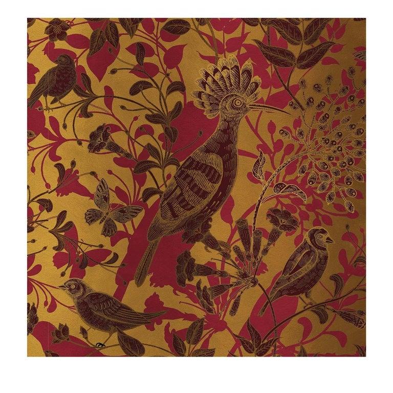 Modern Hoopoe Birds Gold Panel #2 For Sale