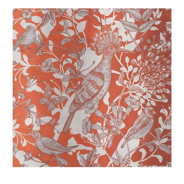Modern Hoopoe Birds Orange Panel For Sale