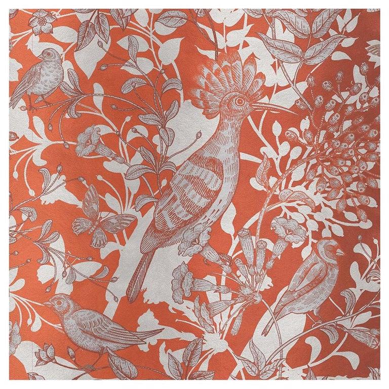 Hoopoe Birds Orange Panel For Sale
