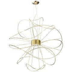 Hoops 6 Modern Italian Abstract Grand LED Pendant Gold, Black or White