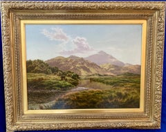 19th century Victorian English/Welsh mountainous river landscape