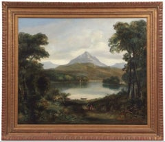 19th Century Painting Romantic Landscape of Beinn Alligin, Wester Ross, Scotland
