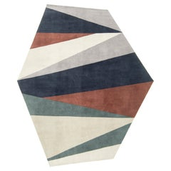 Horizon by Liesel Plambeck, Modern Abstract Shaped Rug