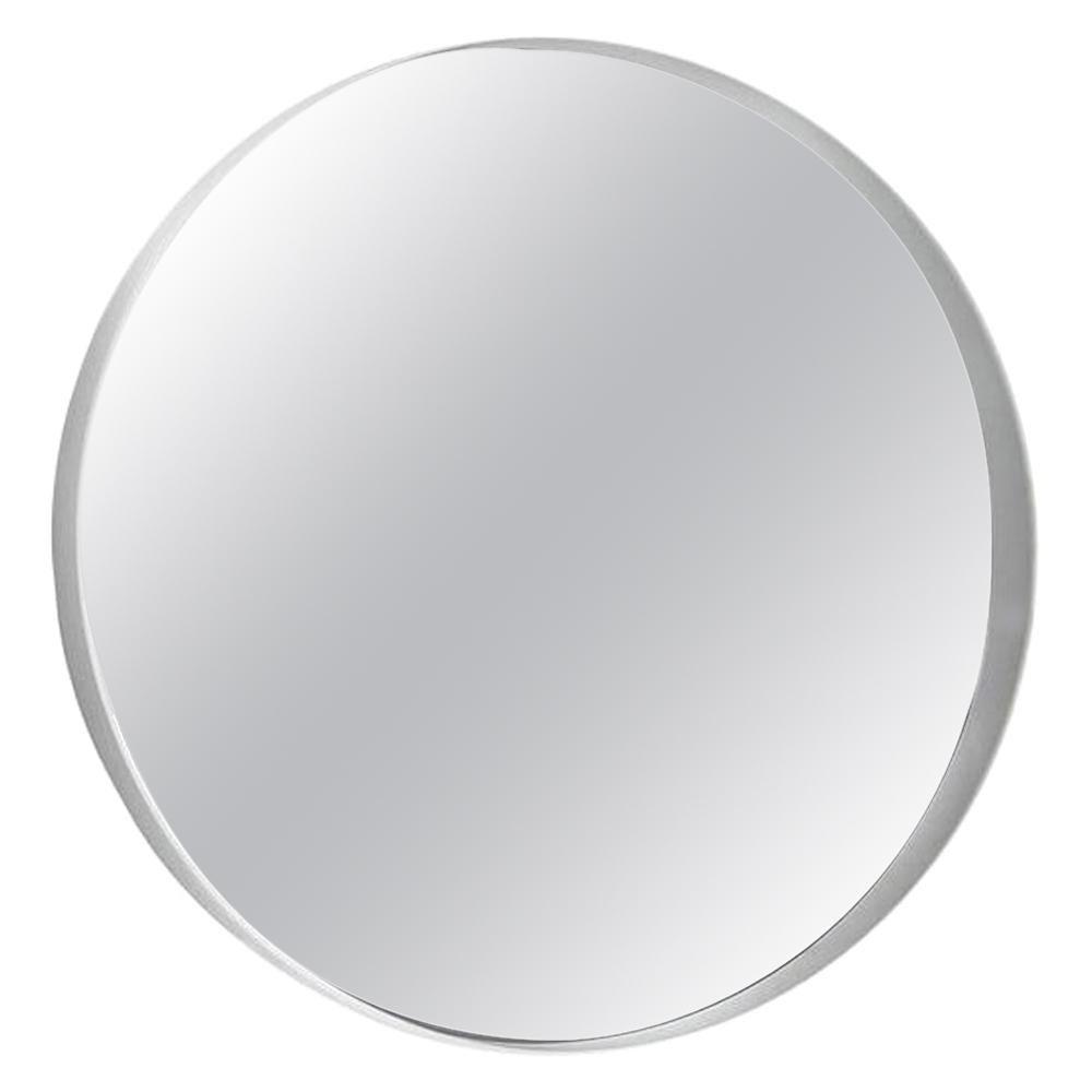 In Stock in Los Angeles, White Round Horizon Wall Mirror by Gianluigi Landoni