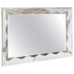 Horizontal or Vertical Silvered Mirror Mid-Century Modern