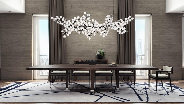 Hand-Crafted Horizontal Valiant Chandelier For Sale