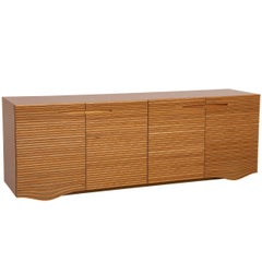 Horizonte Brazilian Contemporary Wood Sideboard by Lattoog