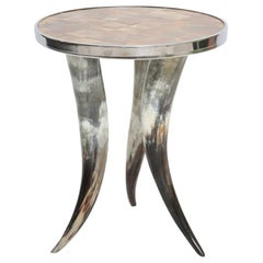 Horn Accent Table