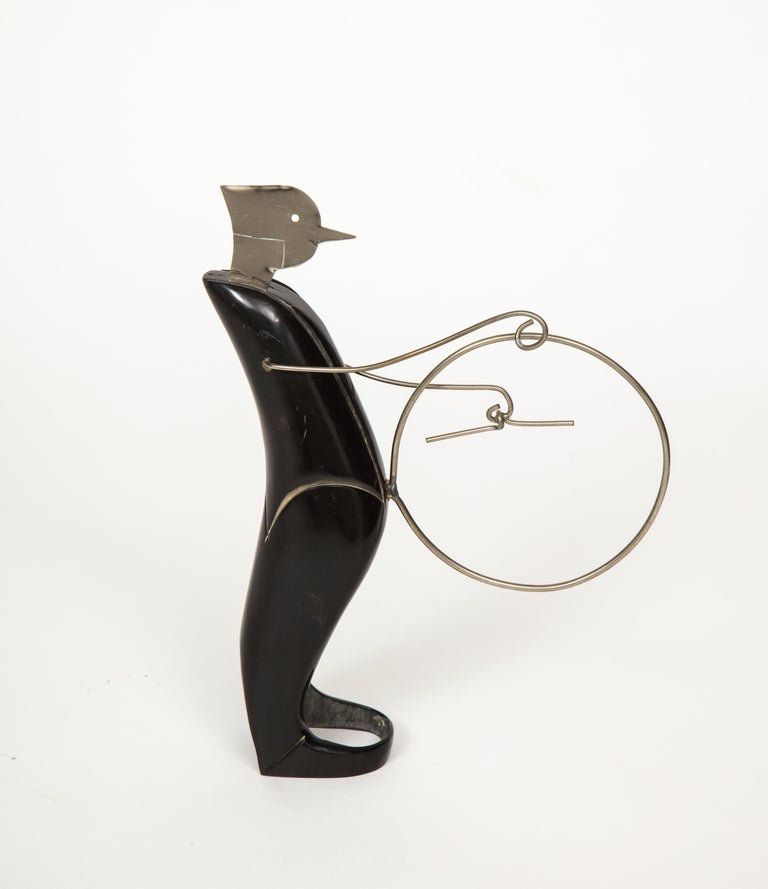 Mid-20th Century Horn and Metal Musical Ensemble For Sale