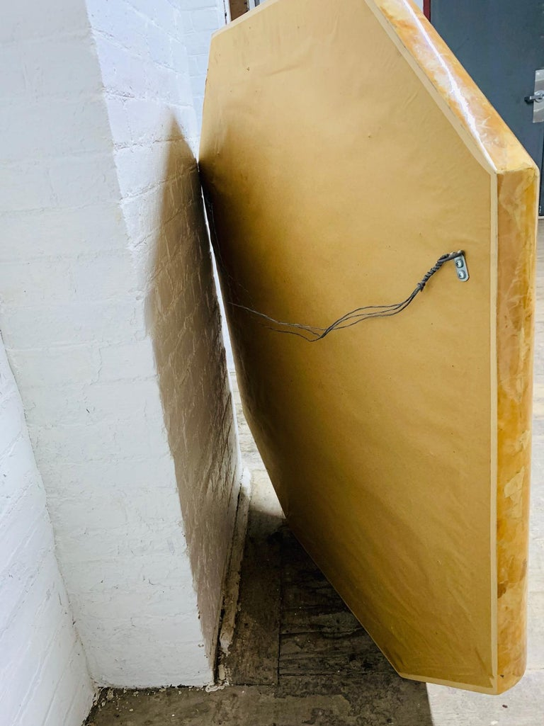 Mid-Century Modern Horn Inlay Octagonal Mirror by Enrique Garcel For Sale