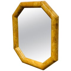 Horn Inlay Octagonal Mirror by Enrique Garcel
