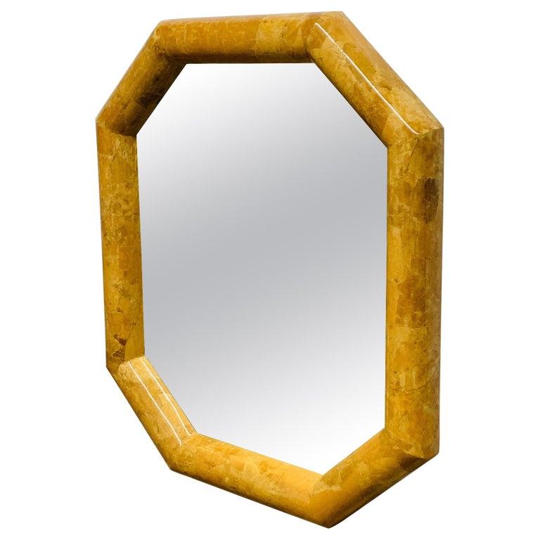 Horn Inlay Octagonal Mirror by Enrique Garcel For Sale