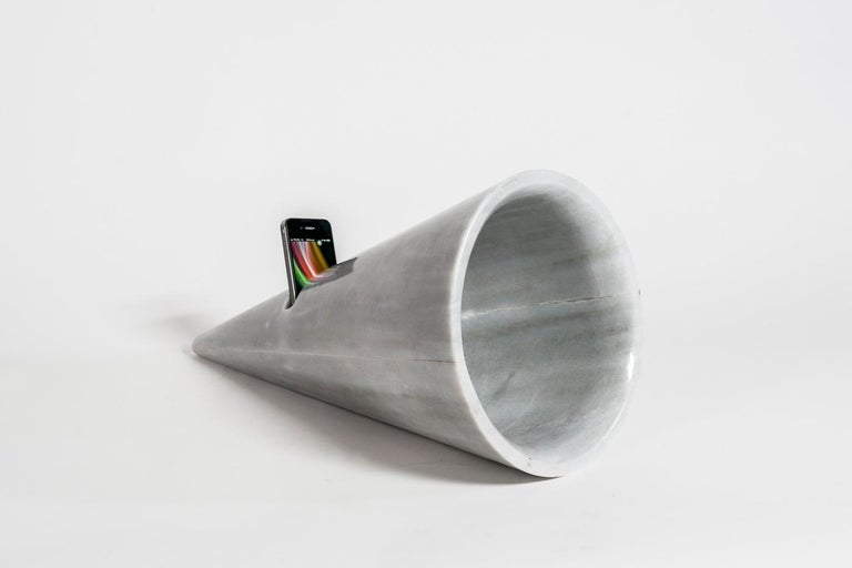 Mexican Horn / Marble / Art / Sculpture / Silvino Lopeztovar For Sale
