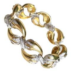 Horn of Abundance Bracelet circa 1960 in Yellow and White Gold 18 Carat Diamonds