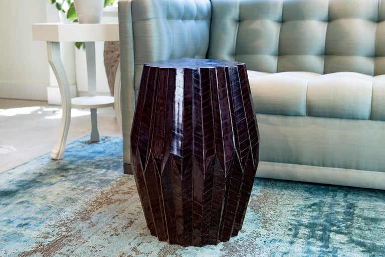 Horn Tessellated End Table Tabla In New Condition For Sale In New York City, NY