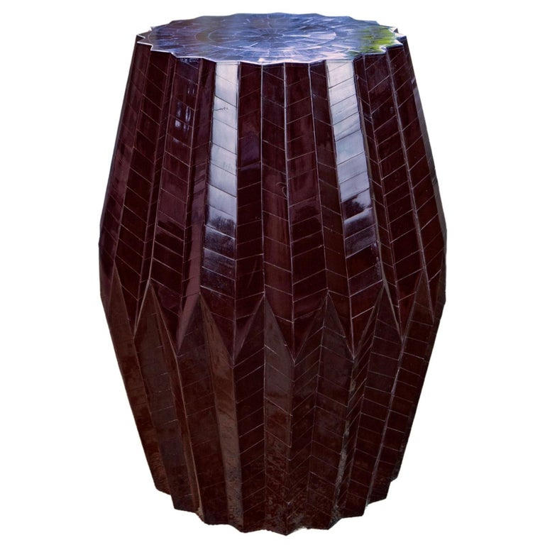 Horn Tessellated End Table Tabla For Sale