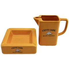 Hornsea Pottery, Bright Yellow Barware for Cutty Sark Scotch Whisky