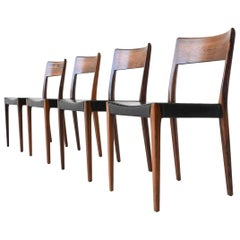 Hornslet Mobelfabrik Rosewood Dining Chairs, Denmark, 1960
