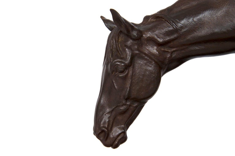 """""""Horse and Bucket"""" French Antique Bronze Sculpture by Isidore Bonheur For Sale 2"""