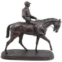 Horse and Jockey No. 1 'The Derby Winner', by Pierre Jules Mêne