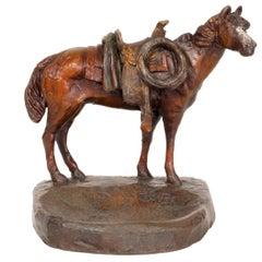 Horse Bronze Dresser Tray by Charlie Beil