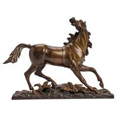 Horse Bronze Sculpture, France 1890