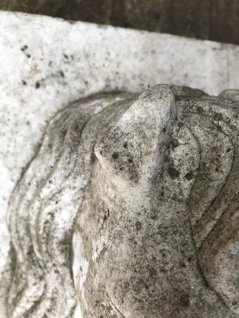 Horse Head Marble Keystone In Good Condition For Sale In London, GB