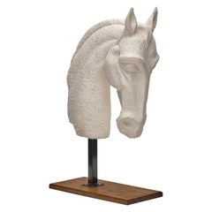 Horse Head Sculpture, French