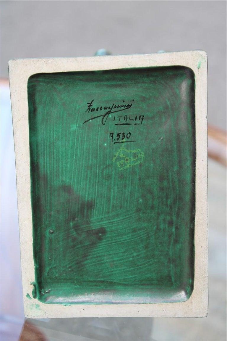 Horse in Green Glazed Ceramic Zaccagnini Italian Design, 1940 For Sale 2