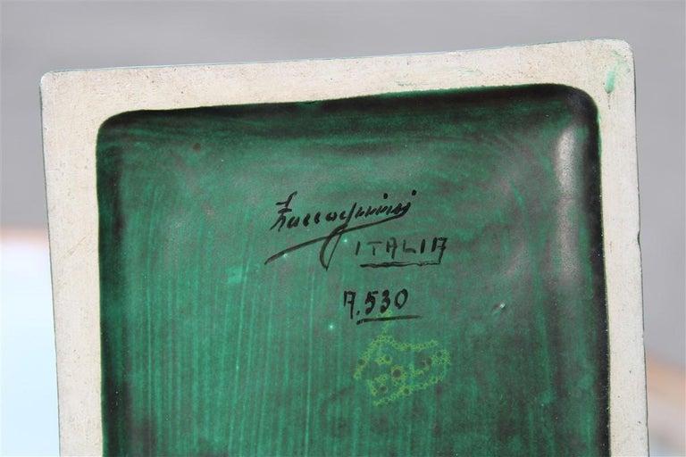 Horse in Green Glazed Ceramic Zaccagnini Italian Design, 1940 For Sale 3