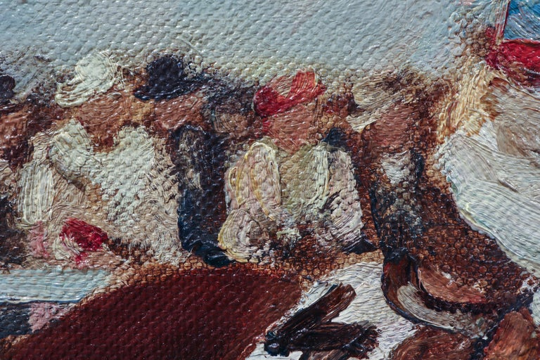 Horse Racing Scene in Impressionist Style by Otto Dill For Sale 3
