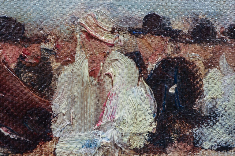 20th Century Horse Racing Scene in Impressionist Style by Otto Dill For Sale