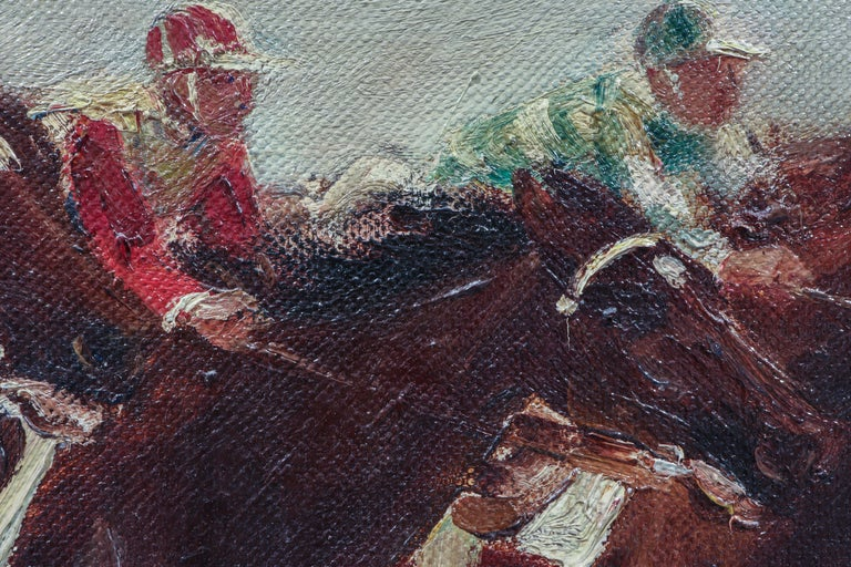 Horse Racing Scene in Impressionist Style by Otto Dill For Sale 1